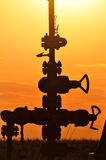 Silhouette Pump Jack Stock Images