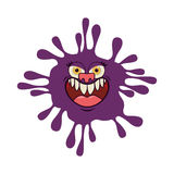 Silhouette purple with bacteria cartoon shape Royalty Free Stock Images