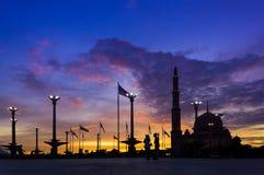 Silhouette Putra Mosque Stock Photos
