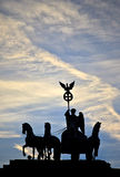 Silhouette of the Quadriga statueBrandenburg Gate Royalty Free Stock Image