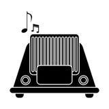 Silhouette radio music communication device Stock Photography