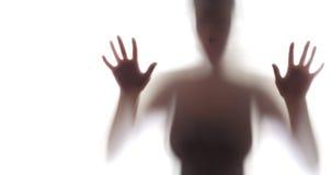 Silhouette rampante de femme Photo libre de droits