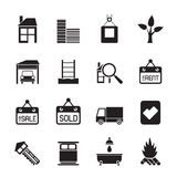 Silhouette Real  Estate and building icons Stock Photo