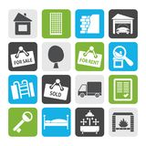 Silhouette Real Estate icons vector illustration