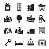 Silhouette Real Estate icons Stock Photo