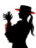 Silhouette in red and black Stock Images