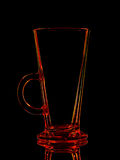Silhouette of red glass for shot with clipping path on black background Royalty Free Stock Photography