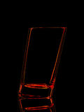Silhouette of red glass for shot with clipping path on black background Stock Photo