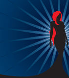 Silhouette of a Redhead Stock Photos