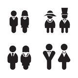 Silhouette Rest Room, WC, Toilet, icons set Stock Photography