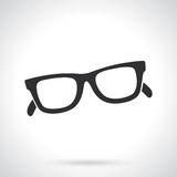Silhouette of retro sunglasses horn-rimmed glasses Royalty Free Stock Photography