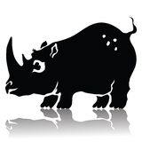 Silhouette of rhinoceros Royalty Free Stock Images