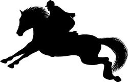 Silhouette of a Rider on a horse Stock Photography