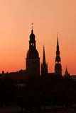 Silhouette of Riga Royalty Free Stock Photography