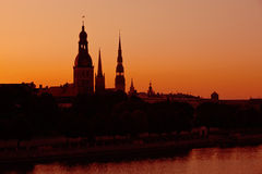 Silhouette of Riga, Latvia Royalty Free Stock Photo