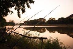 Silhouette river Stock Photo