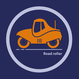 Silhouette of road roller Stock Photography