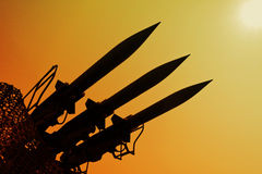 Silhouette of rockets Royalty Free Stock Images