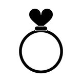 Silhouette romance rings love heart wedding symbol. Vector illustration eps 10 Royalty Free Stock Photography