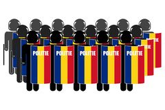 Romanian Riot Police royalty free illustration
