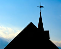 Silhouette of roof of historic building. With weather vane in Huntsville, Alabama Royalty Free Stock Image