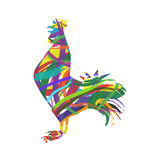Silhouette of rooster Royalty Free Stock Photos