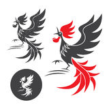 Silhouette of the rooster Royalty Free Stock Image
