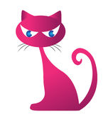 Silhouette rosâtre de chat Image libre de droits