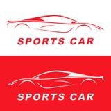 Silhouette rouge de voiture de sport Conception de LOGO Photo libre de droits