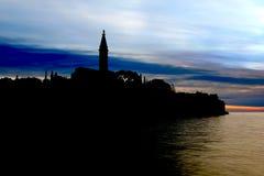 Silhouette of the Rovinj Royalty Free Stock Photo