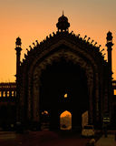 Silhouette - Rumi Gate. The Rumi Gate (Darwaza), in Lucknow, Uttar Pradesh, India, is an imposing gateway which was built under the patronage of Nawab Asaf-Ud Stock Photos