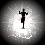 Silhouette of the runner Royalty Free Stock Photo
