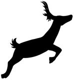 Silhouette Running Deer Stock Photography
