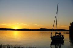 Sail silhouette royalty free stock photo
