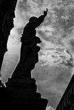 Silhouette of a Saint to the Cathedral of Palermo Royalty Free Stock Photography