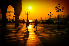 Silhouette of San Marco Square Royalty Free Stock Images
