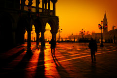 Silhouette of San Marco Square Royalty Free Stock Photography