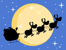 Silhouette of santa Stock Photos