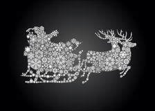 Silhouette of santa claus Stock Image