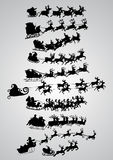 Silhouette of santa claus Stock Photo