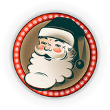 Silhouette of Santa Claus in the frame Royalty Free Stock Photo