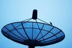 Silhouette Satellite dish Stock Photos