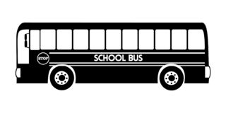 Silhouette school bus illustration vector black color royalty free illustration