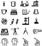 Silhouette science, chemistry, and engineering too Stock Image