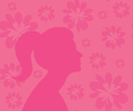 Silhouette on a seamless pattern Royalty Free Stock Image