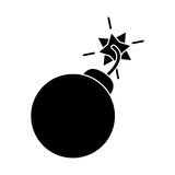 Silhouette security system concept bomb icon Royalty Free Stock Photography