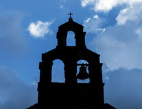 Silhouette of Serbian Orthodox Church Royalty Free Stock Image