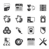 Silhouette Server Side Computer icons Royalty Free Stock Image