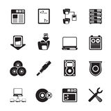 Silhouette Server Side Computer icons Stock Photography