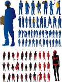 Silhouette set. Illustration of fashion silhouette set Royalty Free Stock Images
